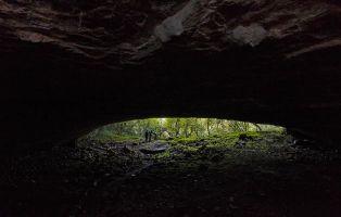 Entrada de la Cueva Palomera en Ojo Guareña