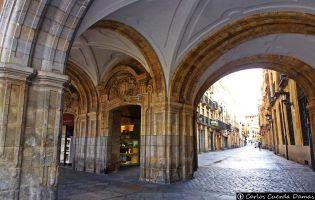 Entrada Plaza Mayor de Salamanca
