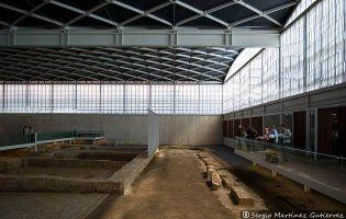 Vista a la villa romana de la Olmeda