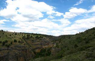 Sendero entre barrancos - Duratón - Segovia