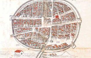 Bodegas subterráneas de Aranda de Duero - Plano de 1503