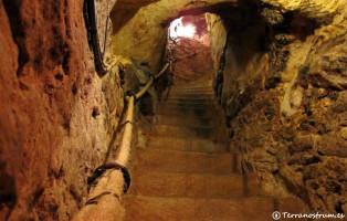 Bodegas subterráneas de Aranda de Duero - Escalera de salida