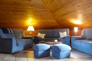Casa rural con sala de juegos y sala de lectura en Calabazas de Fuentidueña - Segovia