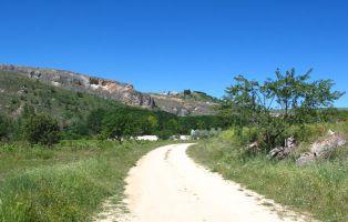 Panorámica de la Necrópolis de San Martín - Fuentidueña