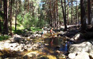 El Río Cega a su paso por El Chorro de Navafría