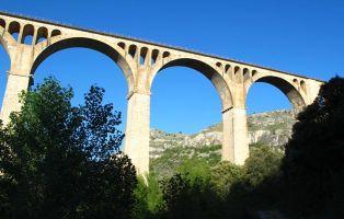 Viaducto Hoces del Riaza - Línea de ferrocarril de Madrid a Irún