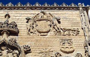 Símbolos de los Reyes Católicos en la Iglesia de Santa María de Aranda de Duero - Burgos