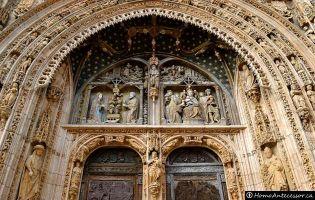 Portada retablo gótico isabelina - Iglesia de Santa María - Aranda de Duero