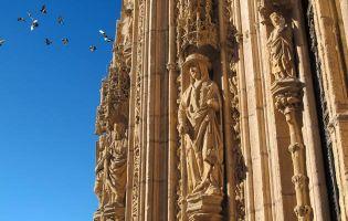 Fachada gótica isabelina - Aranda de Duero - Burgos