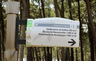 Recorrido señalizado - Lagunas de Cantalejo
