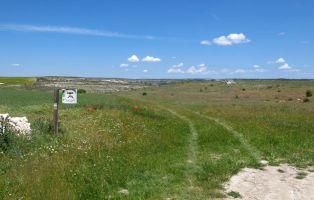 Tramo del sendero de Maderuelo al Sabinar de Hornuez
