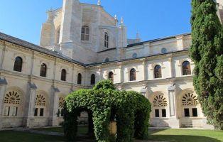 Jardín y pozo - Claustro del Monasterio de La Vid - Burgos