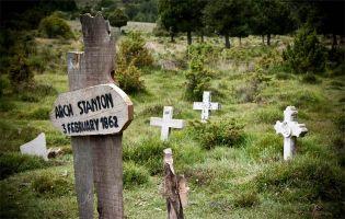 Recreación del Cementerio de Sad Hill - El Bueno, el Feo y el Malo