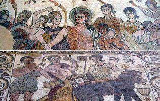 Mosaico de Baco - Baños de Valdearados