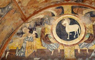 Pinturas románicas ermita de la Vera Cruz - Maderuelo