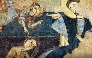 Frescos románicos ermita de la Vera Cruz - Maderuelo