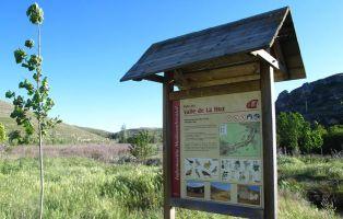 Cartel interpretativo del Valle de la Hoz - Aldeasoña