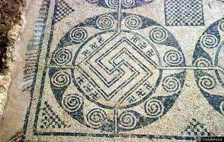 Mosaico de las Swásticas - Villa romana de Tejada