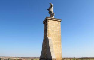 Cristo de Ayllón en las proximidades de la Torre de la Martina