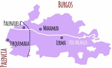 Mapa de la DO. Ribera del Arlanza