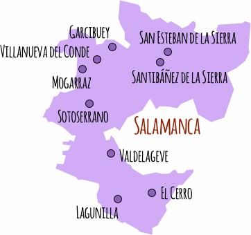 Mapa do sierra salamanca