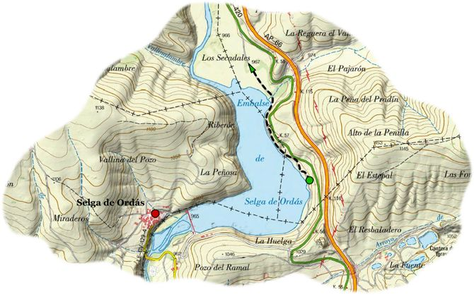 Ornit Pseo embalse ordas map