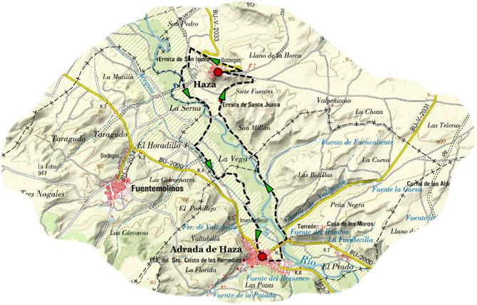Sendero valle riaza map