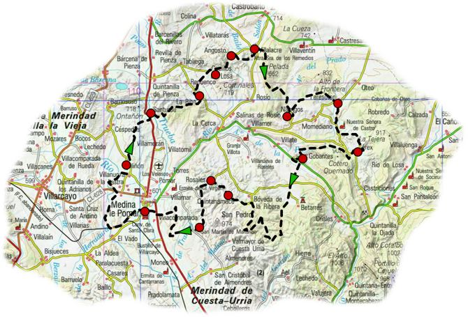 send gr 186 caminos medina map