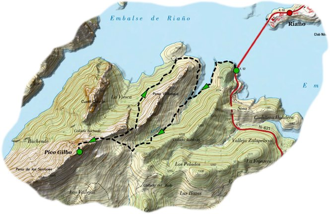 Acesnsion pico gilbo map