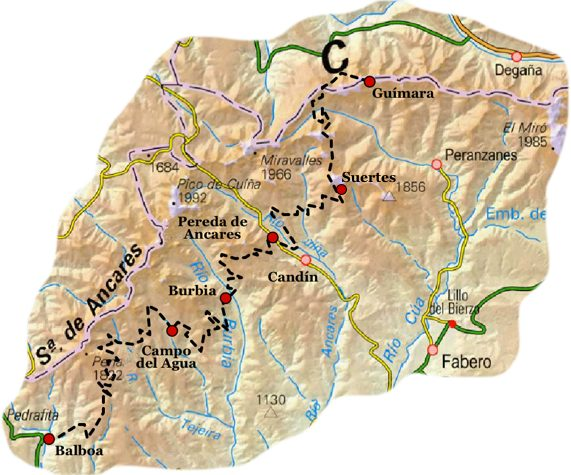 CamnoNatural AncaresLeoneses Map