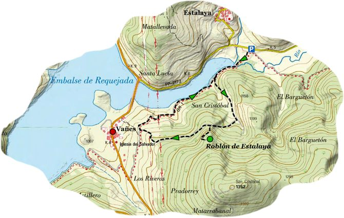 Senda Roblon Estalaya map1
