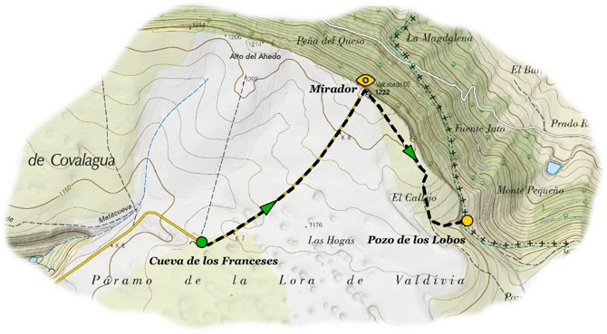 send cueva franceses pozo lobos map
