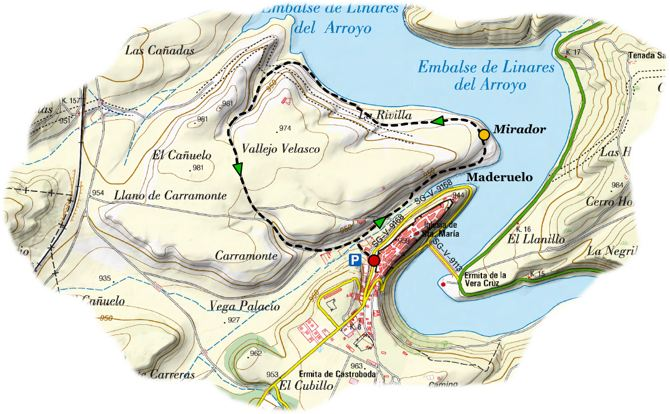 send embalse linares map