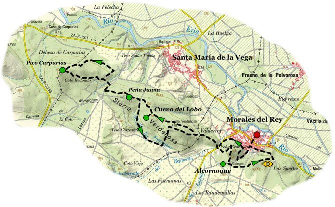 ruta sierra carpurias map